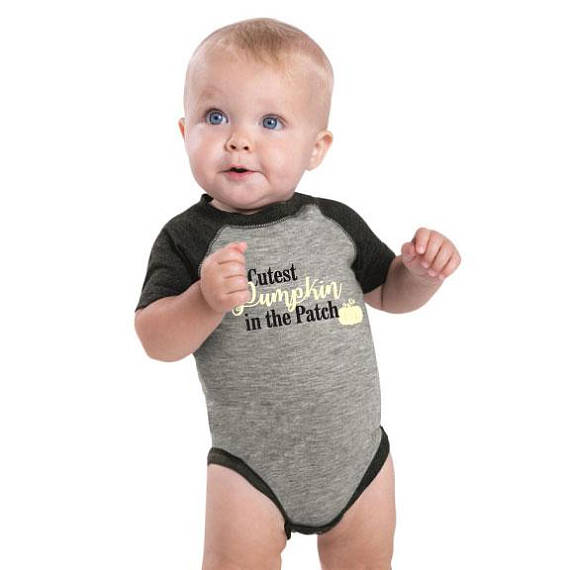 Cutest Pumpkin In The Patch Infant Baseball Jersey Bodysuit
