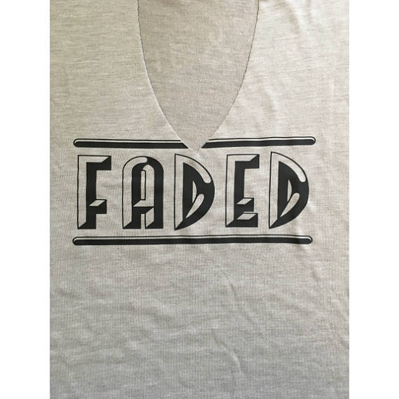Faded Women's draped fit Cut out neck Tank top / Concert tank top/ Trippie Top/ Trending Cut out v-nevk /drinking tank
