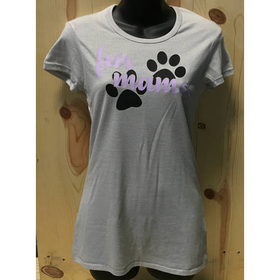 Fur Mama Women's Vintage T-Shirt / Animal Lovers I love my dog Tee