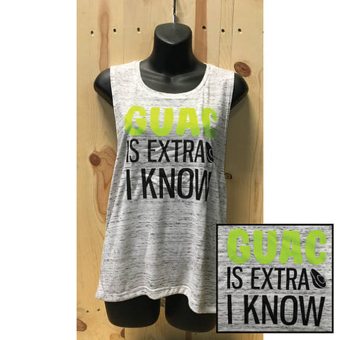 Guac Is Extra I KNOW Avocado Ladies Bella Muscle Tank