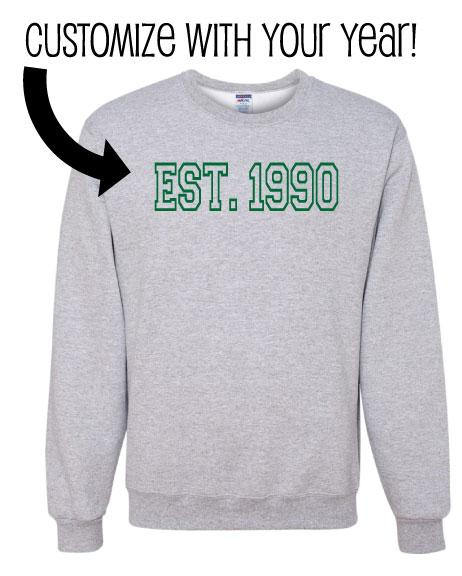 Custom EST. 19XX Established Year Unisex Crewneck Sweatshirt