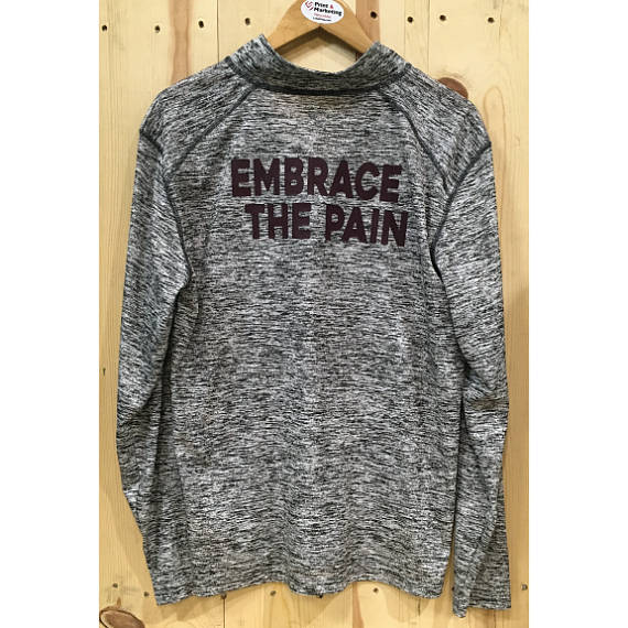 Embrace The Pain 1/4 Zip Mens Womens Activewear Gym Wear Workout Outfit Work out