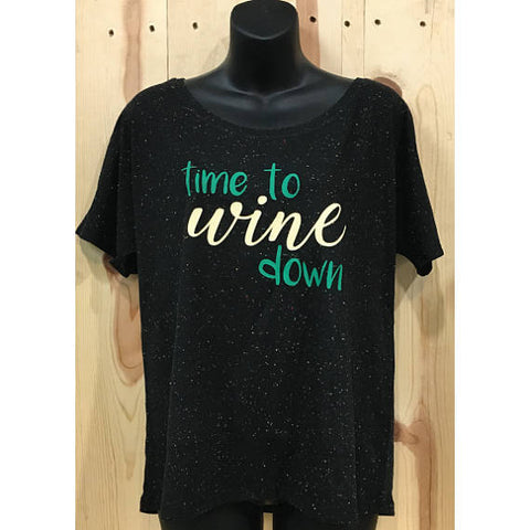 Time To Wine Down Bella Canvas Women's Slouchy Tee