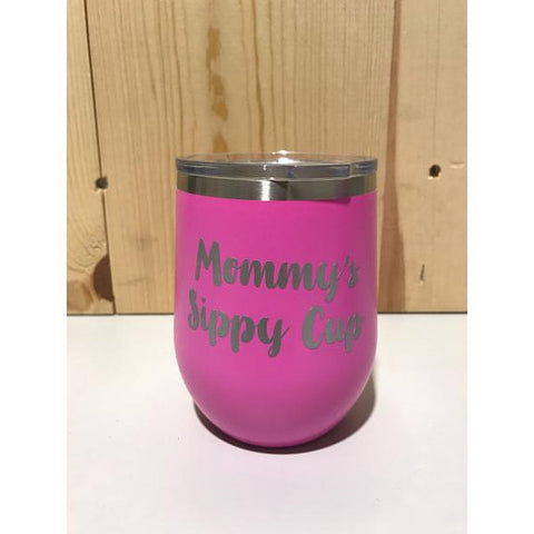 Mommy's Sippy Cup 12oz. Vacuum Insulated Stemless Wine Tumbler