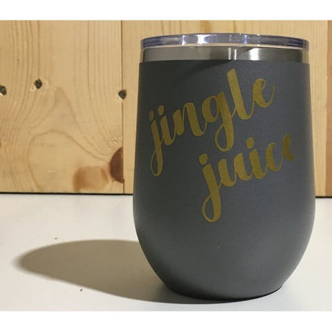 Jingle Juice 12oz. Vacuum Insulated Stemless Wine Tumbler