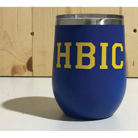 HBIC 12oz. Vacuum Insulated Stemless Wine Tumbler