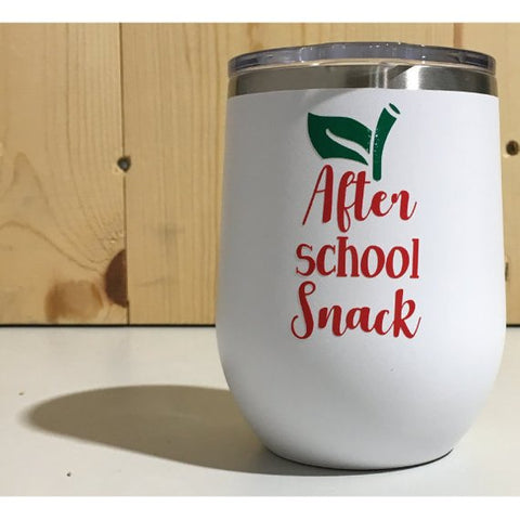 After School Snack 12oz. Vacuum Insulated Stemless Wine Tumbler