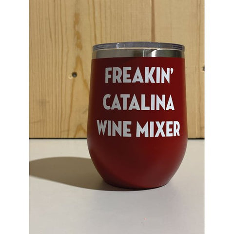 Freakin' Catalina Wine Mixer 12oz. Vacuum Insulated Stemless Wine Tumbler