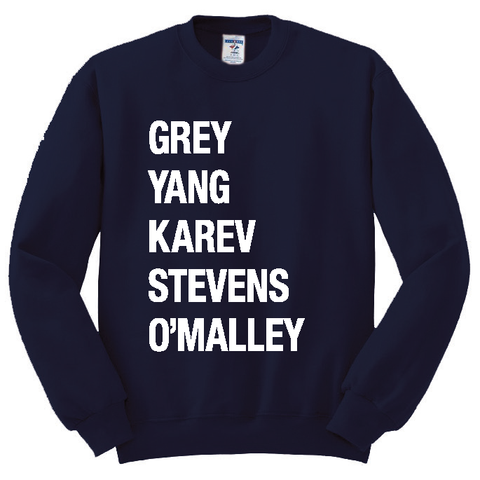Grey Yang Karev Stevens O'Malley Crewneck (More Colors)