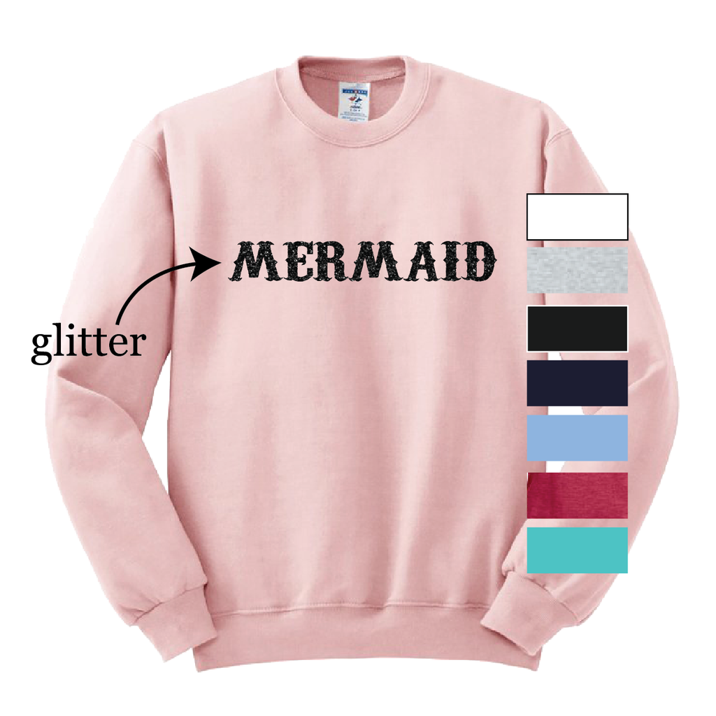 Glitter Mermaid Crewneck Sweatshirt