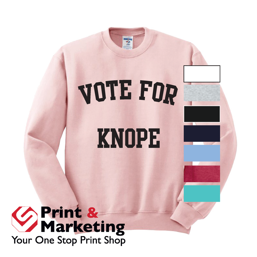 Vote For Knope Crew neck (More Colors)