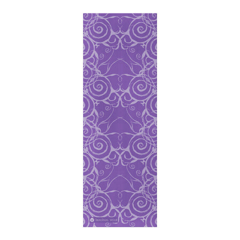 Sacred Spiral Yoga Mat | Purple