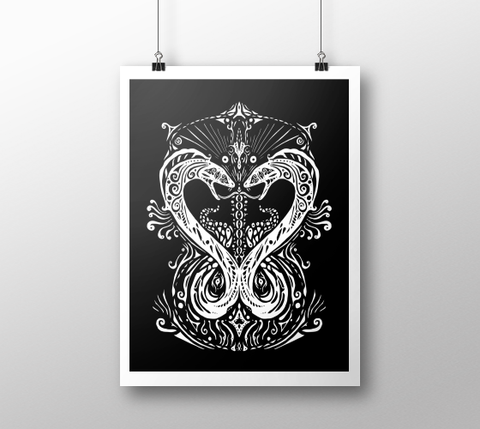 Serpent Heart ~ Fine Art Print - Art print - Imaginal Wear