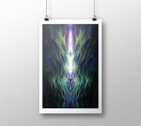 Astral Flame ~ Fine Art Print - Art print - Imaginal Wear