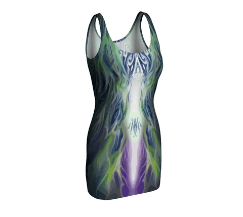 Astral Flame Fitted Dress