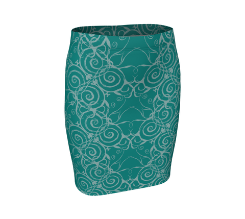 Spiral Fitted Skirt