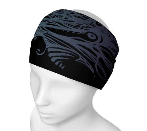 Black Owl Headwrap/Dust Mask/Scarf