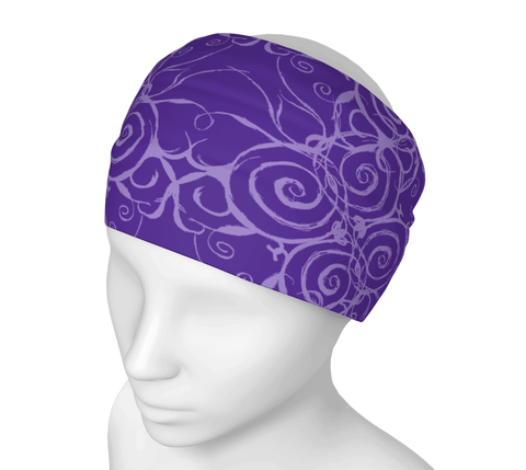 Sacred Spiral Headwrap/Dust Mask/Scarf | Purple