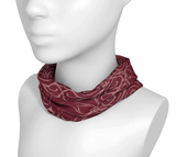 Sacred Spiral Headwrap/Dust Mask/Scarf | Burgundy