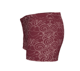 """Sacred Spiral"" ~ Athletic Shorts ~ Burgundy - Shorts - Imaginal Wear - 2"