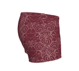 """Sacred Spiral"" ~ Athletic Shorts ~ Burgundy - Shorts - Imaginal Wear - 3"