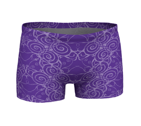 """Sacred Spiral"" ~ Athletic Shorts ~ Purple - Shorts - Imaginal Wear - 1"