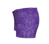 """Sacred Spiral"" ~ Athletic Shorts ~ Purple - Shorts - Imaginal Wear - 2"