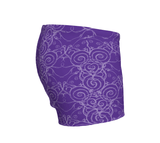 """Sacred Spiral"" ~ Athletic Shorts ~ Purple - Shorts - Imaginal Wear - 3"