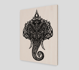 """Om Elefante"" ~ Eco-Wood Print - Wood print - Imaginal Wear - 2"