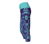 Matrix Dimension Capris | Purple