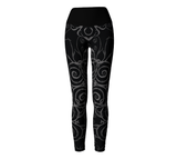 """Sacred Spiral"" ~ Yoga Leggings ~ Black - Yoga Leggings - Imaginal Wear - 2"