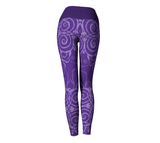 """Sacred Spiral"" ~ Yoga Leggings ~ Purple - Yoga Leggings - Imaginal Wear - 4"