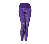 """Sacred Spiral"" ~ Yoga Leggings ~ Purple - Yoga Leggings - Imaginal Wear - 1"
