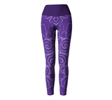 """Sacred Spiral"" ~ Yoga Leggings ~ Purple - Yoga Leggings - Imaginal Wear - 2"