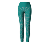 """Sacred Spiral"" ~ Leggings ~ Turquoise - Yoga Leggings - Imaginal Wear - 2"