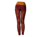 Matrix Dimension Leggings | Burgundy
