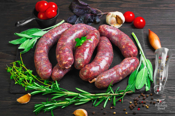 Grass Fed and Pastured Beef Hawaiian Sausage