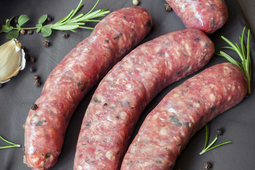 Grass Fed and Pastured Beef Sweet Italian Sausage