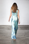 Blue Sky Evening Gown back