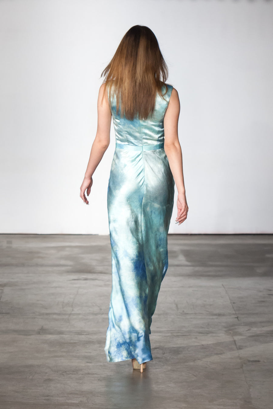 Blue Sky Evening Gown front