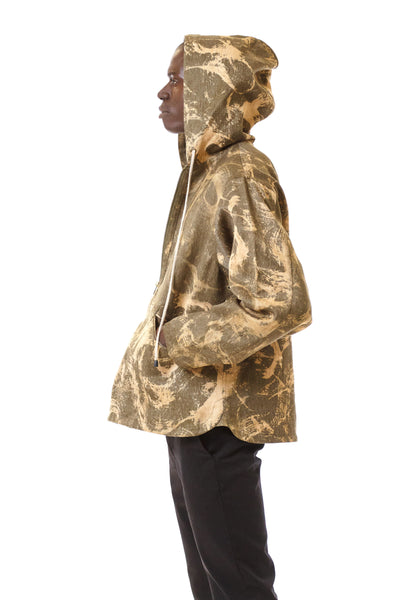 Mens Army Anorak side view