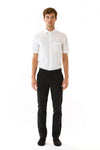 Mens Black Pants front view