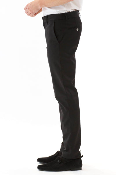 Mens Black Pants side view
