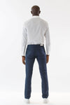 Mens Blue Hemp Denim Jeans back view