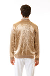 Mens Embroidered Gold Hempsilk Bomber back view