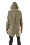 Mens Green Parka back view