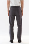 Mens Grey Drawstring Pants back view