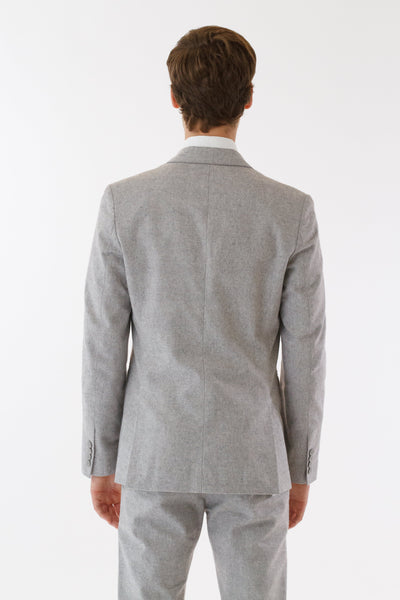 Mens Grey Suit Jacket back view