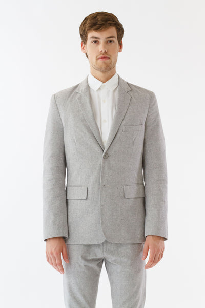 Mens Grey Suit Jacket front view