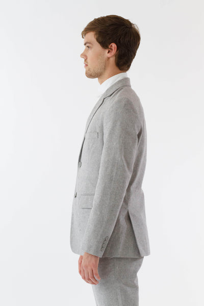 Mens Grey Suit Jacket side view